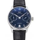 IWC ポルトギーゼ 7デイズパワーリザーブ IW500710 ブルー 39381